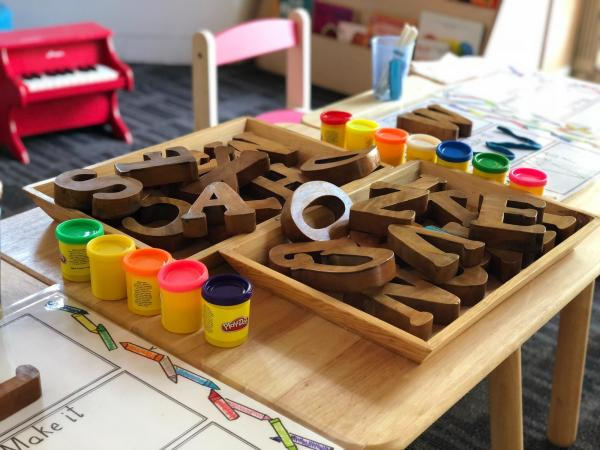Preschool Letters and Play dough