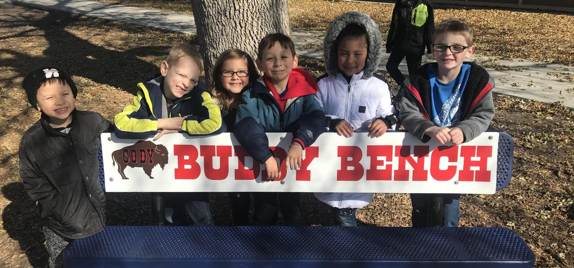 kids at buddy bench
